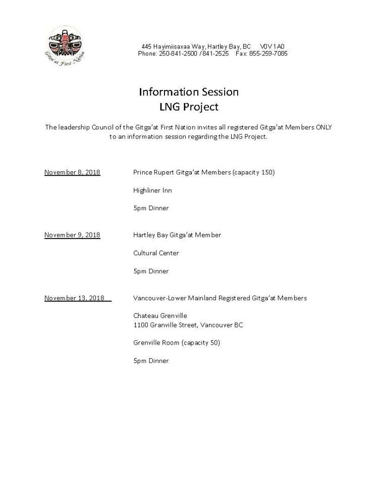 LNG Information Session: Prince Rupert @ Highliner Inn